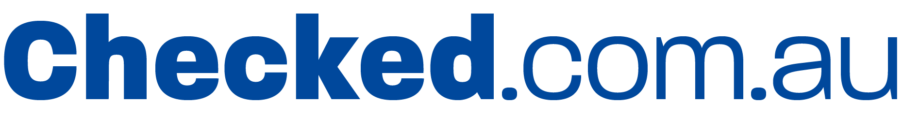 Checked logo blue
